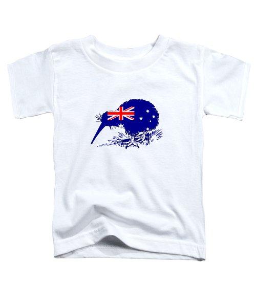 Australian Flag - Kiwi Bird Toddler T-Shirt by Mordax Furittus