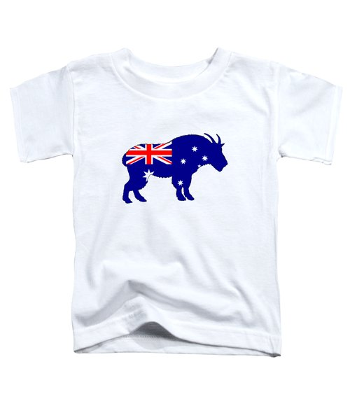 Australian Flag - Mountain Goat Toddler T-Shirt by Mordax Furittus