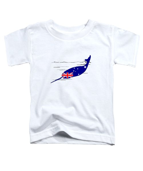 Australian Flag - Narwhal Toddler T-Shirt by Mordax Furittus