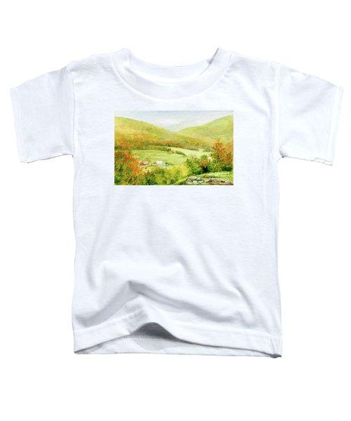 Autumn Farm In Vermont Toddler T-Shirt