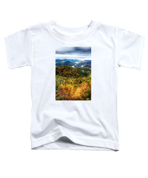 Autumn Foliage On Blue Ridge Parkway Near Maggie Valley North Ca Toddler T-Shirt