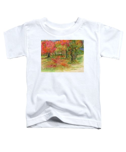 Autumn Forest Watercolor Illustration Toddler T-Shirt