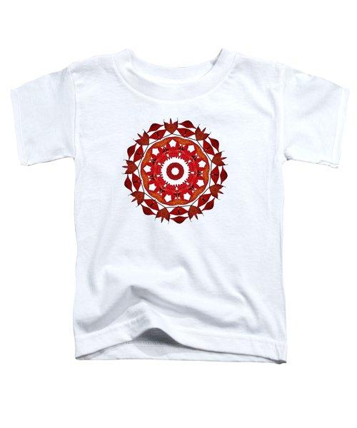 Autumn Leaves Mandala By Kaye Menner Toddler T-Shirt by Kaye Menner