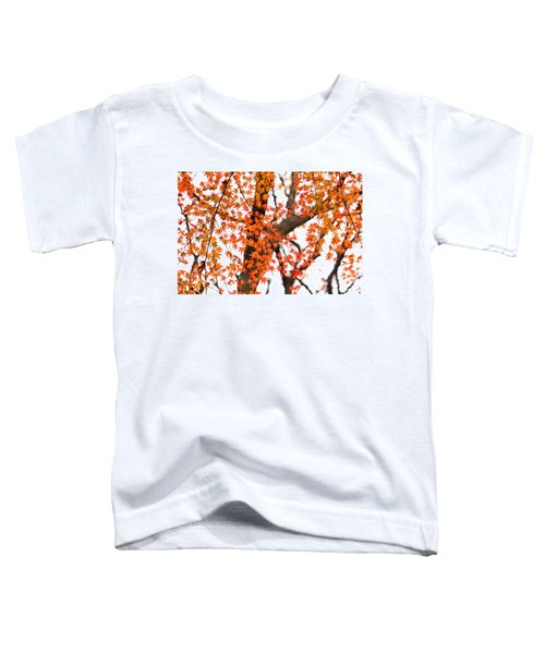 Autumn Red Leaves On A Tree   Toddler T-Shirt