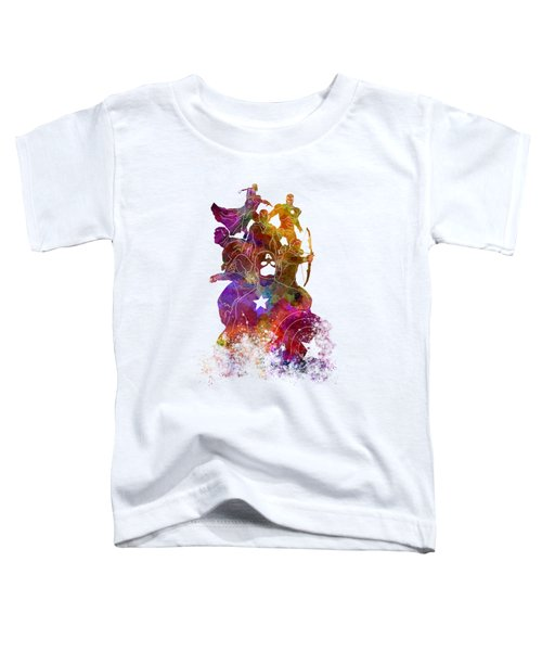 Avengers 02 In Watercolor Toddler T-Shirt