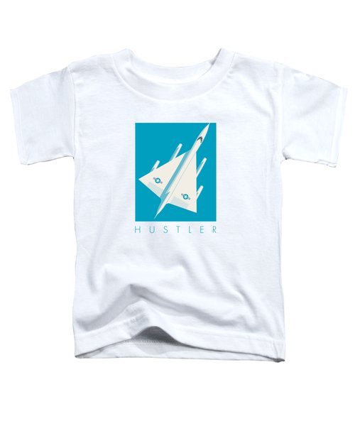 B-58 Hustler Supersonic Jet Bomber - Blue Toddler T-Shirt