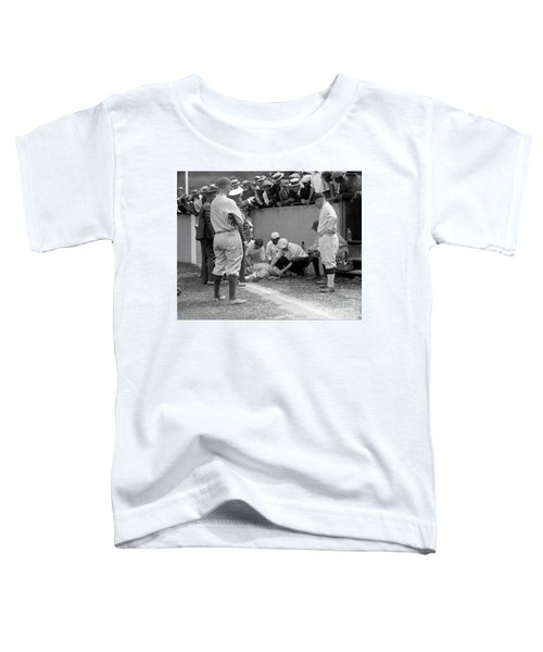 Babe Ruth Knocked Out By A Wild Pitch Toddler T-Shirt