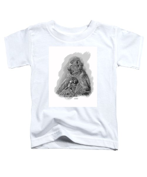 Baboon Mother And Young Toddler T-Shirt