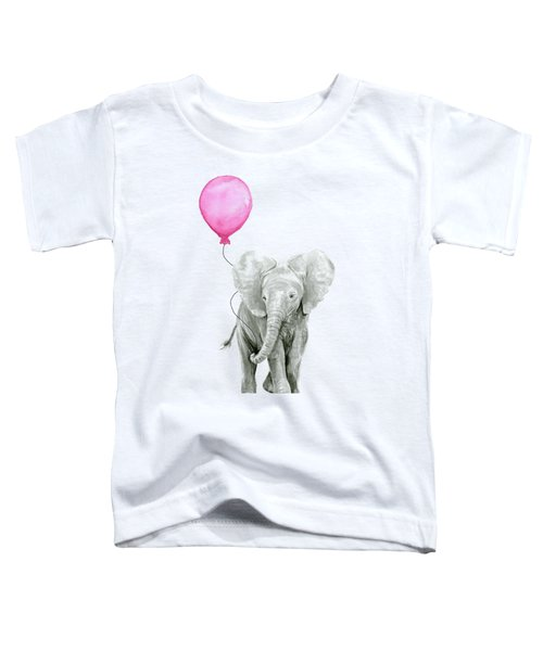 Baby Elephant Watercolor  Toddler T-Shirt