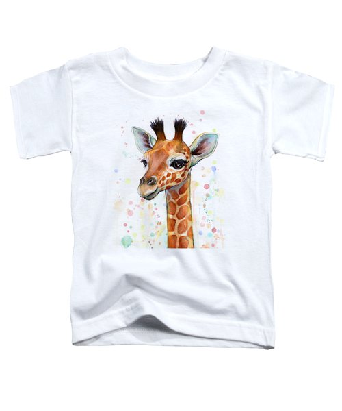 Baby Giraffe Watercolor  Toddler T-Shirt