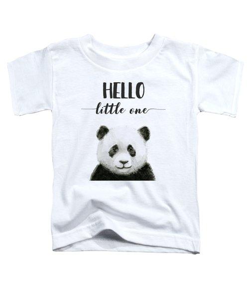 Baby Panda Hello Little One Nursery Decor Toddler T-Shirt