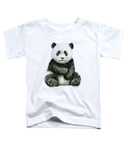 Baby Panda Watercolor Toddler T-Shirt