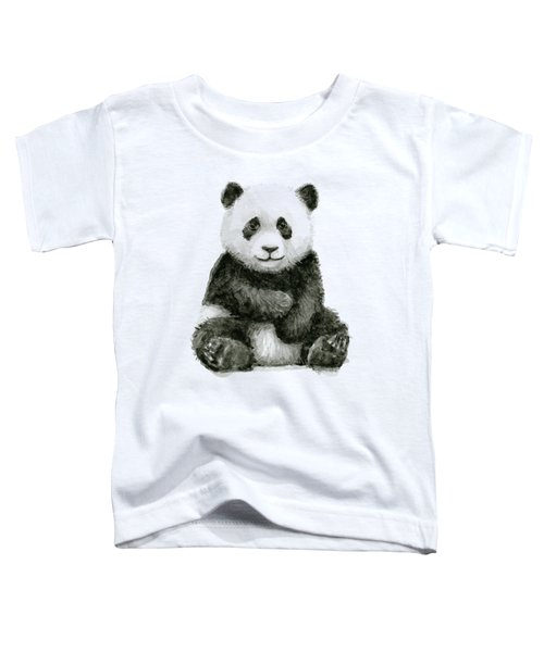 Baby Panda Watercolor Toddler T-Shirt