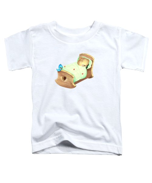 Baby Teddy Sweet Dreams Toddler T-Shirt by Linda Lindall