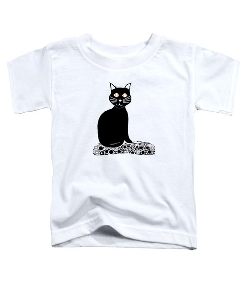 Background Choice Black Cat Toddler T-Shirt