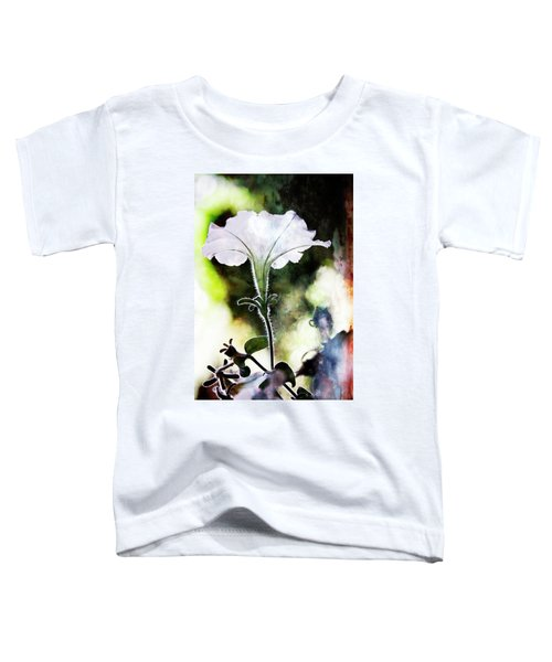 Backlit White Flower Toddler T-Shirt