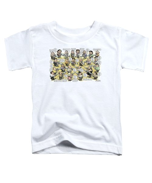 Bad Guys Watch Out Toddler T-Shirt