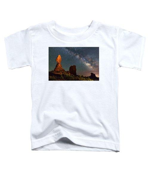 Balanced Rock And Milky Way Toddler T-Shirt