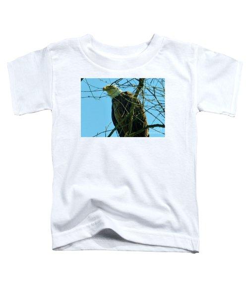 Bald Eagle Keeping Guard Toddler T-Shirt
