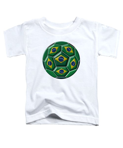 Ball With Brazilian Flag Toddler T-Shirt