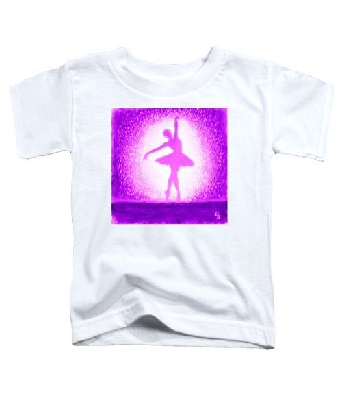 Ballerina Purple And Pink Toddler T-Shirt