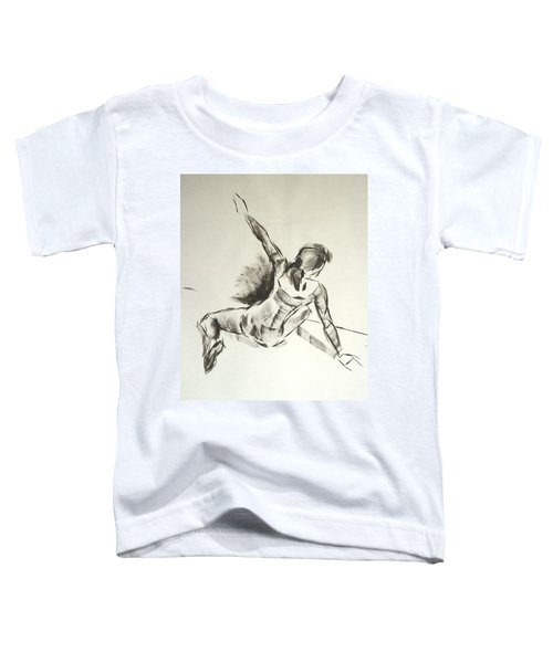 Ballet Dancer Sitting On Floor With Weight On Her Right Arm Toddler T-Shirt