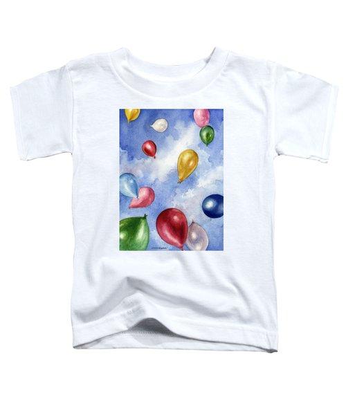 Balloons In Flight Toddler T-Shirt