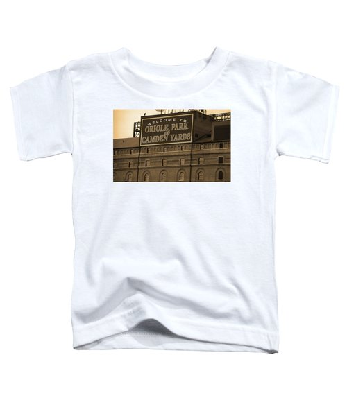 Baltimore Orioles Park At Camden Yards Sepia Toddler T-Shirt