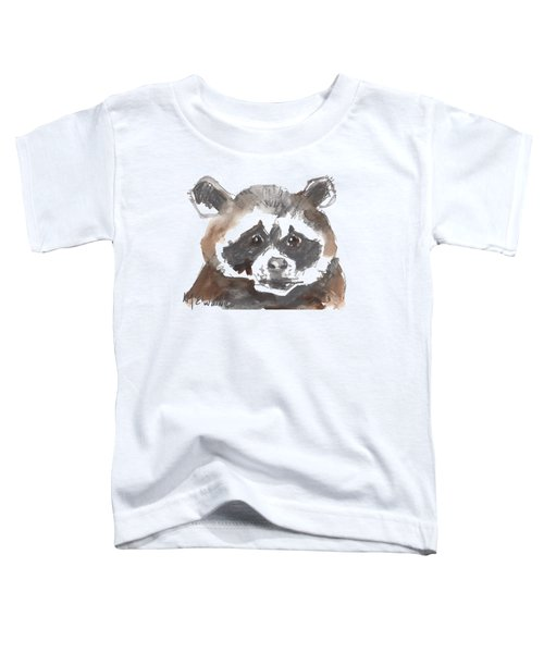 Bandit Raccoon Toddler T-Shirt by Kathleen McElwaine