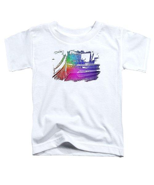Barbara Cool Rainbow 3 Dimensional Toddler T-Shirt