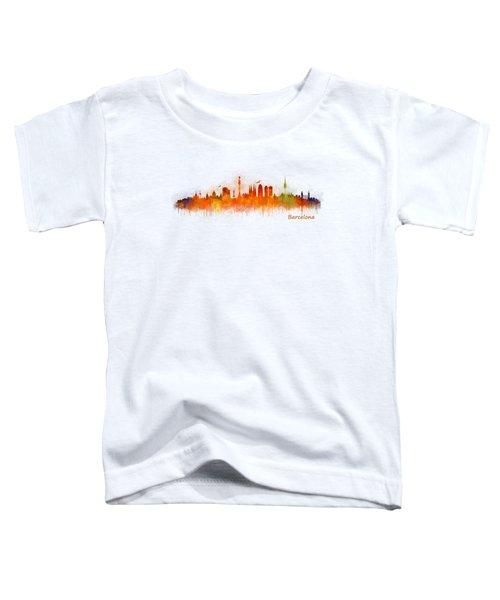 Barcelona City Skyline Hq _v3 Toddler T-Shirt by HQ Photo