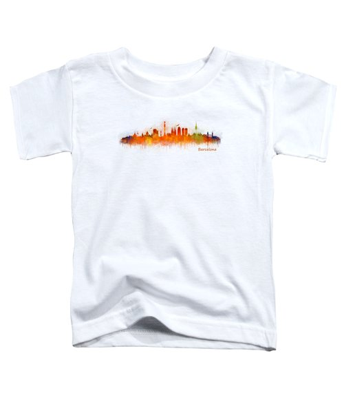Barcelona City Skyline Hq _v3 Toddler T-Shirt