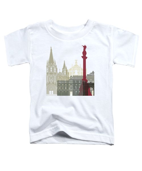 Barcelona Skyline Poster Toddler T-Shirt by Pablo Romero