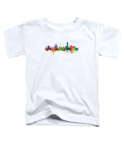 Barcelona Spain Skyline Panoramic Toddler T-Shirt
