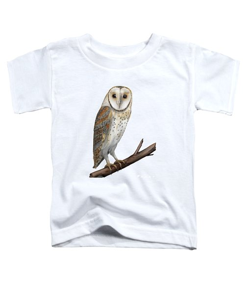 Barn Owl Screech Owl Tyto Alba - Effraie Des Clochers- Lechuza Comun- Tornuggla - Nationalpark Eifel Toddler T-Shirt