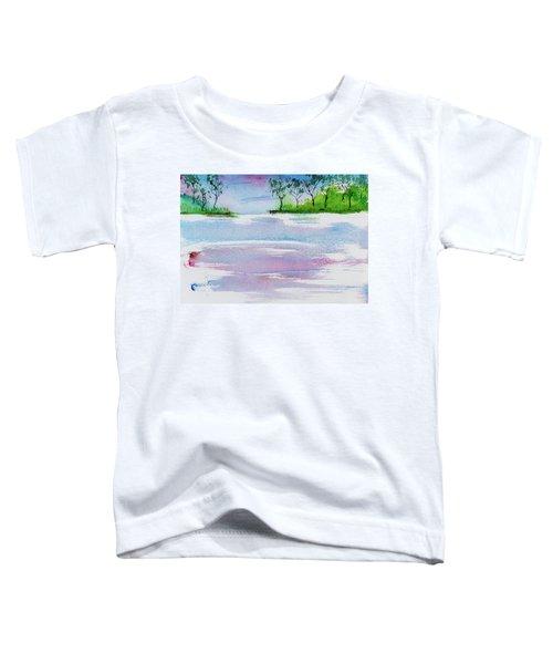 Gum Trees Frame The Sunset At Barnes Bay Toddler T-Shirt