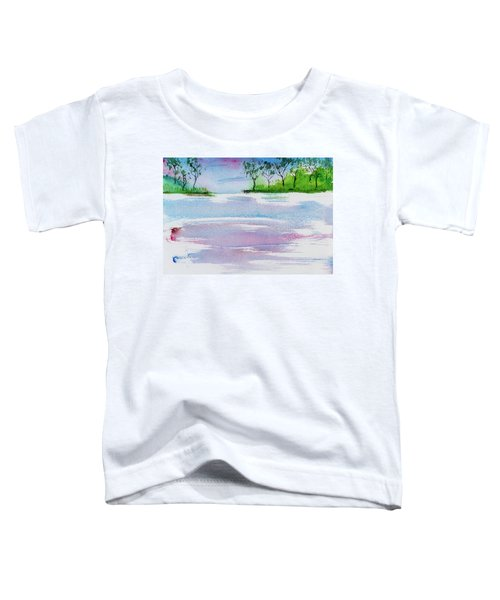 Gum Trees Frame The Sunset At Barnes Bay Toddler T-Shirt
