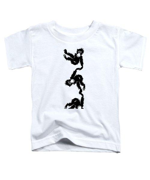 Barrel Full Of Monkeys T-shirt Toddler T-Shirt by Edward Fielding
