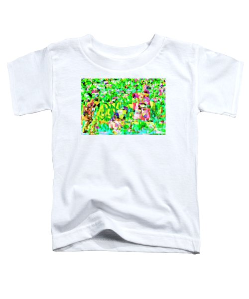 Baseball Batter Sluuger In Abstract Cubism 20170329 Toddler T-Shirt