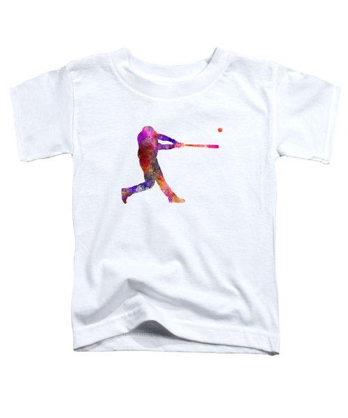 Baseball Player Hitting A Ball 01 Toddler T-Shirt by Pablo Romero