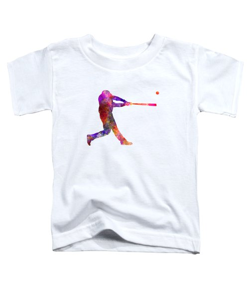 Baseball Player Hitting A Ball 01 Toddler T-Shirt