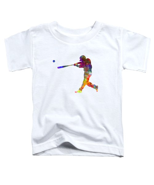 Baseball Player Hitting A Ball 02 Toddler T-Shirt by Pablo Romero