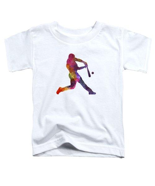 Baseball Player Hitting A Ball Toddler T-Shirt by Pablo Romero