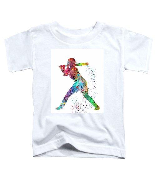 Baseball Softball Player Toddler T-Shirt