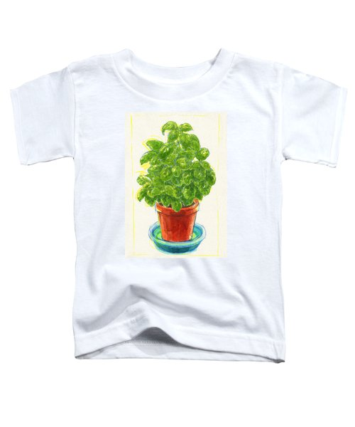 Toddler T-Shirt featuring the painting Basil by Judith Kunzle