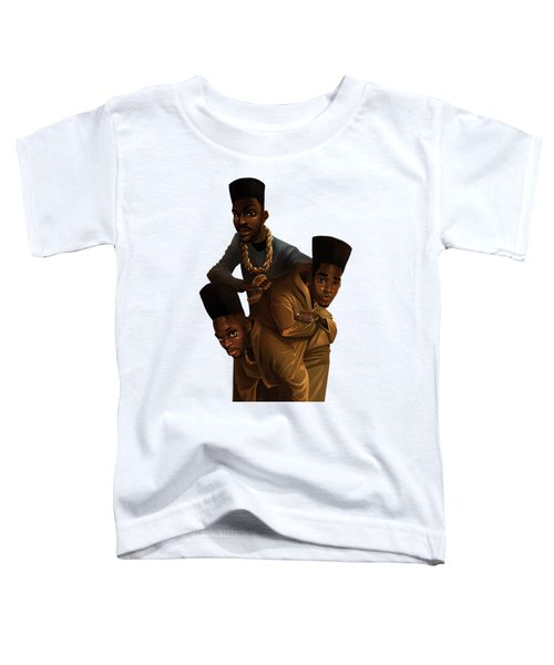 Bdk White Bg Toddler T-Shirt by Nelson Dedos Garcia