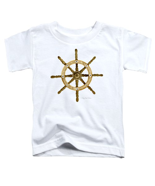 Beach House Nautical Boat Ship Anchor Vintage Toddler T-Shirt by Audrey Jeanne Roberts