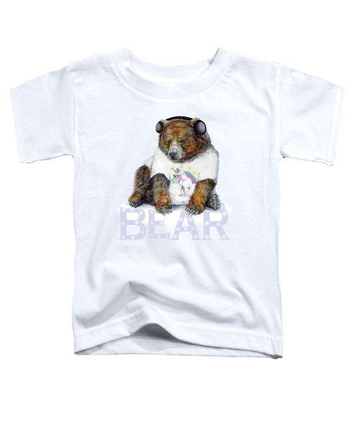 Bear Dj Toddler T-Shirt