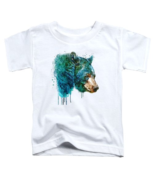 Bear Head Toddler T-Shirt by Marian Voicu