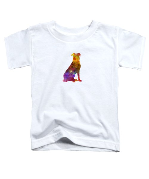 Beauceron In Watercolor Toddler T-Shirt by Pablo Romero